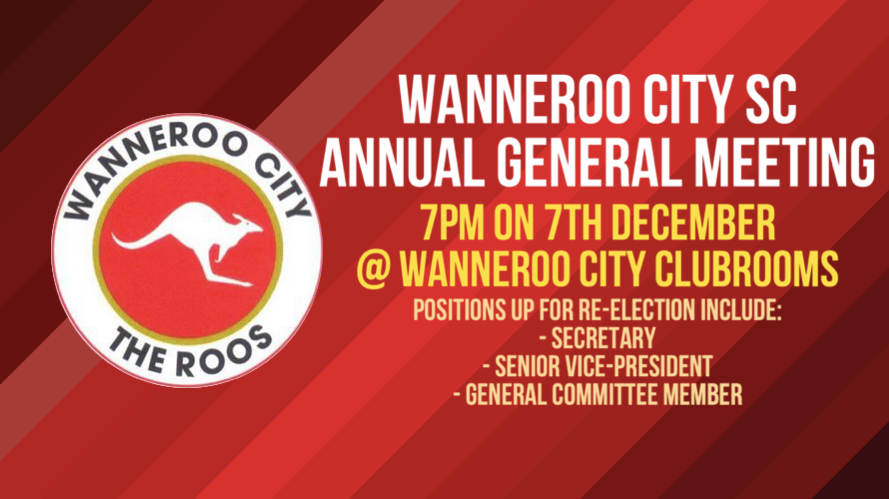 Notice of Annual General Meeting – Monday December 7th