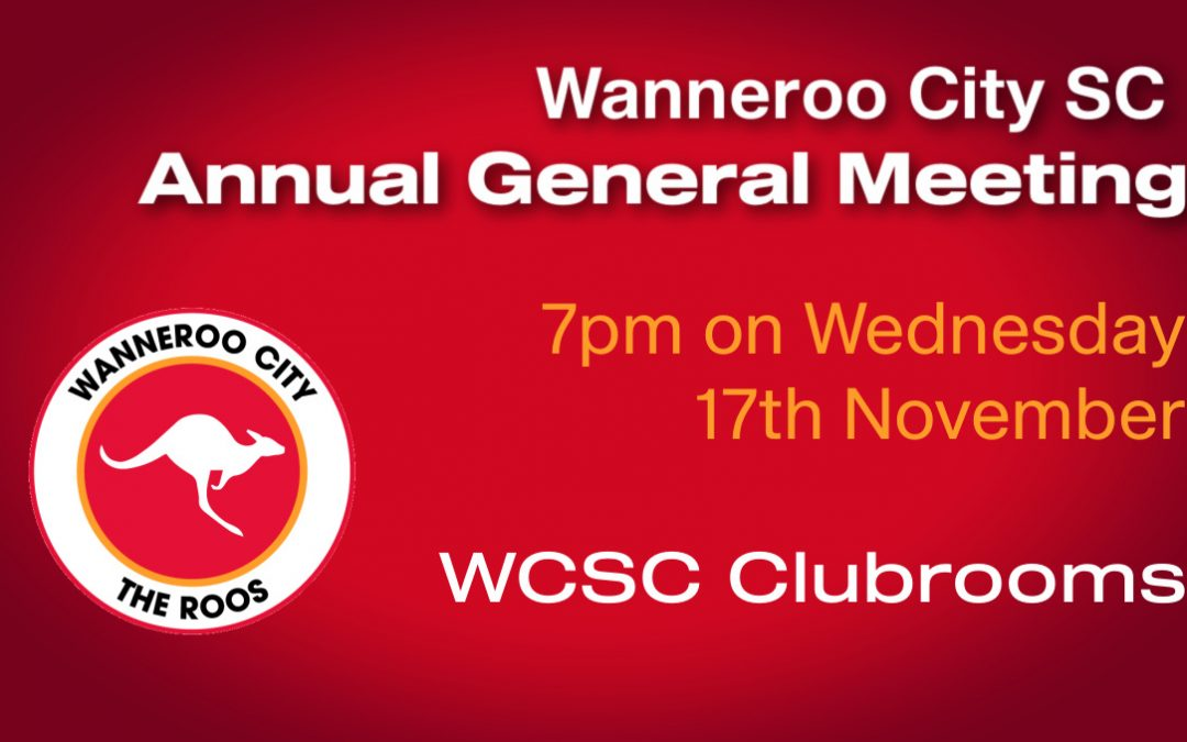 Notice of Annual General Meeting – Wednesday November 17th